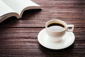 在咖啡店的咖啡杯 — 图库照片