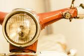 Headlight vintage motorcycle — Stock Photo