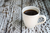 White coffee mug — Stock Photo