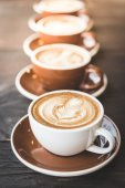 Latte coffee cups — Foto de Stock