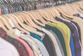 Clothes retail in shop — Stock Photo
