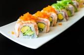 Delicious japanese sushi rolls — Stock Photo