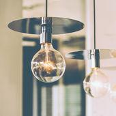 Vintage light lamps — Stock Photo