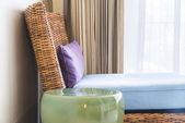 Light Sofa pillows — Stock Photo