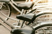Selective focus on Vintage bicycles — Stockfoto