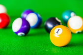 Colorful Billiards balls — Stock Photo