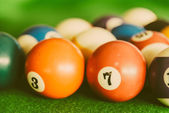 Pool billiards balls — Stock Photo