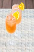 Fruit Cocktails glasses — Stock Photo