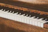 Old piano keys — Stock Photo