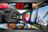 Dslr camera concept — Stock Photo