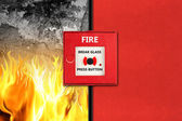Fire alarm concept — Stock Photo