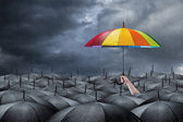 Rainbow umbrella concept — Stock Photo