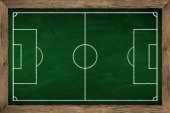 Soccer tactic board — Stock Photo