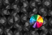 Umbrella unique concept — Stock Photo