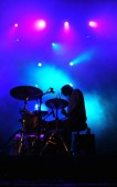 Batery in concert — Stock Photo