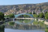 Pedestrian Bridge of Peace in Tbilisi, Georgia — Stock Photo