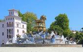 Colchian Fountain on the central square of Kutaisi, Georgia — Stock Photo