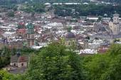 View of Lviv from Castle Hill, Ukraine — Stock Photo