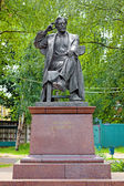 Monument of writer Vyacheslav Shishkov in Bezhetsk, Russia — Stock Photo