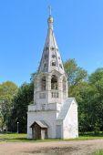 Belfry of Presentation of the Virgin Mary Church in Bezhetsk, Russia — Stock fotografie
