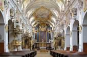 Interior of St. Emmeram's Basilica in Regensburg — Stock Photo