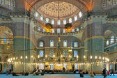 Interior of Yeni Mosque in Istanbul, Turkey — Stock Photo