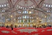 Interior of Fatih Mosque in Istanbul, Turkey — 图库照片