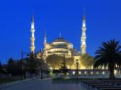 Sultan Ahmed Mosque in early morning, Istanbul, Turkey — Stock Photo