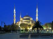 Sultan Ahmed Mosque in early morning, Istanbul, Turkey — Stockfoto