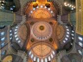 Ceiling painting of Yeni Mosque in Istanbul, Turkey — ストック写真