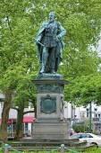 Statue of Emperor Friedrich III in Wiesbaden — Stock Photo