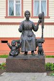 Monument av ryska fruar i Archangelsk, Ryssland — Stockfoto