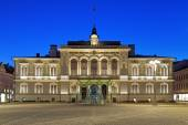 Evening view of the Tampere City Hall, Finland — Stock Photo