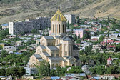 Καθεδρικός ναός της Αγίας Τριάδος του Τμπιλίσι, γεωργία — Φωτογραφία Αρχείου