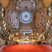 Interior of the Sultan Ahmed Mosque in Istanbul, Turkey — Stock Photo