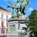Постер, плакат: Kaiser Wilhelm Monument in Dusseldorf Germany