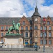 Jan Wellem equestrian monument and Old Town Hall in Dusseldorf, Germany — Stock Photo #75540969