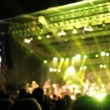 Young people dancing at rock festival — Stock Video #58004801