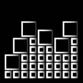 Kareler-soyut mimari tasarım öğesi ile soyut kompozisyon — Stockvector