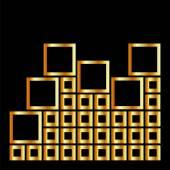 Composición abstracta con elemento de diseño arquitectónico de plazas — Vector de stock