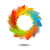 Rainbow färgad blommönster element eller logotyp för webbanvändning — Stockvektor