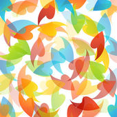 Rainbow colored background with leaves — Stock Vector