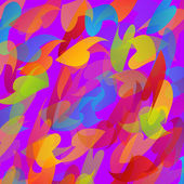 Rainbow colored background with leaves — Wektor stockowy