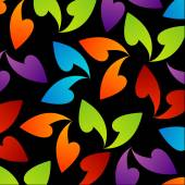 Rainbow colored background with leaves — Cтоковый вектор