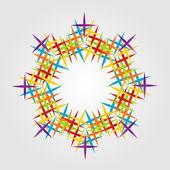 Colorful fractal design element — Stock Vector