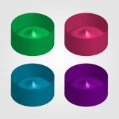 Colorful 3d objects for use as logo or design element — Wektor stockowy