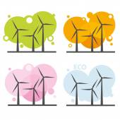Wind power stations — Stock Vector
