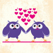 Two owls gays — Stock Vector #53831803