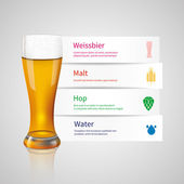 Paper infographics with beer — Stock Vector