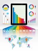 Smartphone using infographics — Vettoriale Stock